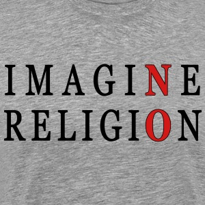 Imagine No Religion - Men's Premium T-Shirt