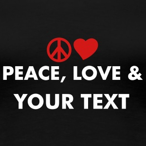 peace_love_and Women's T-Shirts - Women's Premium T-Shirt