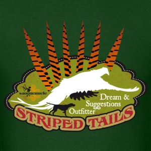 pheasant_striped tail T-Shirts - Men's T-Shirt