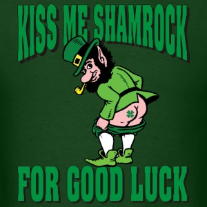 Kiss My Shamrock For Good Luck T-Shirt - Men's T-Shirt