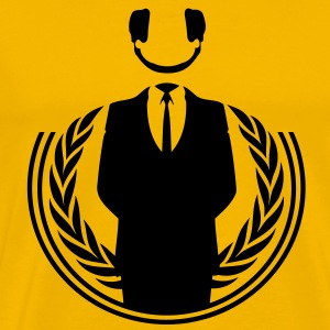 Anonymous DJ smile - Men's Premium T-Shirt