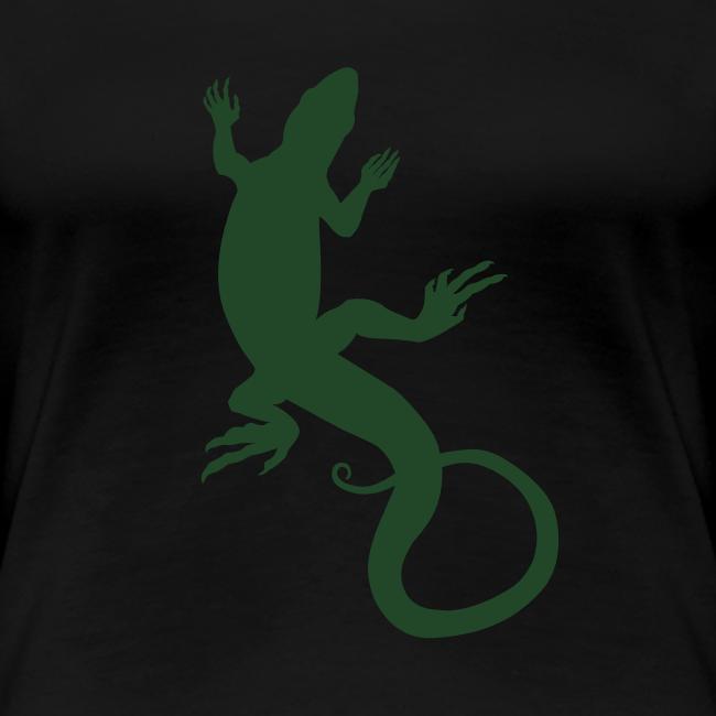Lizard Art Shirt Women's Classic Reptiler Design
