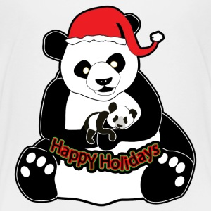 Pandas Happy Holidays - Toddler Premium T-Shirt
