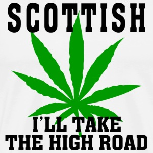 Scottish I'll Take The High Road T-Shirt - Men's Premium T-Shirt