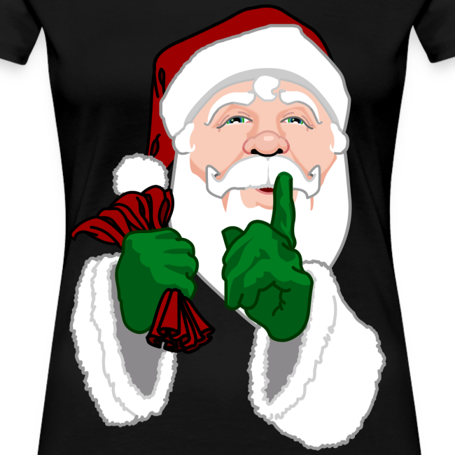 Santa Clause T-shirts Women's Christmas Shirts