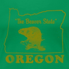 Oregon The Beaver State Vintage Women's T-Shirts