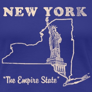 New York, The Empire State womens vintage T - Women's Premium T-Shirt