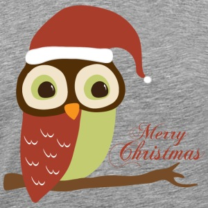 Santa Owl Merry Christmas T-Shirts - Men's Premium T-Shirt