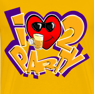Design ~ I Love To Party. TM  mens tee