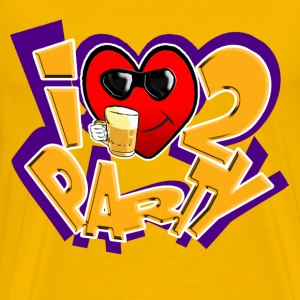 I Love To Party mens tee. TM - Men's Premium T-Shirt