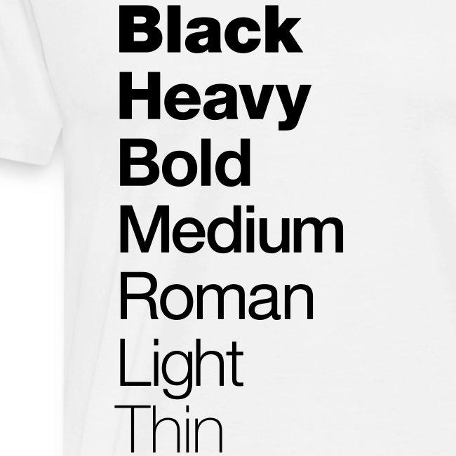 Helvetica Weight.