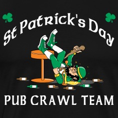 St Patrick's Day Pub Crawl Team T-Shirt