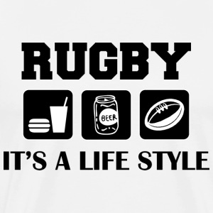 Eat Drink Beer Play Rugby T-Shirt - Men's Premium T-Shirt