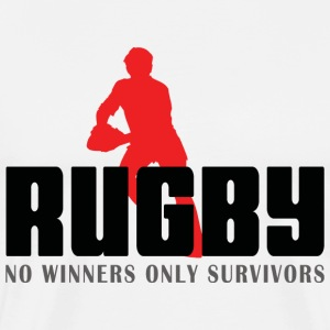 Rugby No Winners Only Survivors T-Shirt - Men's Premium T-Shirt