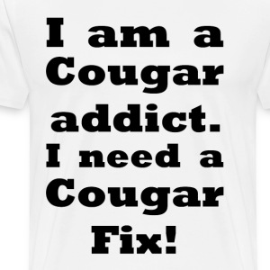 Cougar Addict    BLA17 - Men's Premium T-Shirt