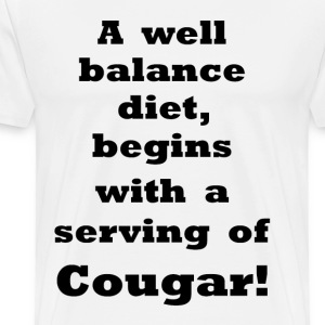 Serving of Cougar    BLA42 - Men's Premium T-Shirt