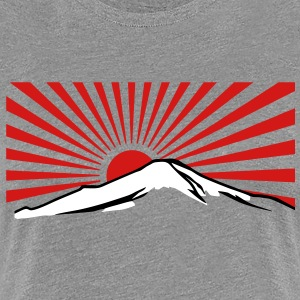 Mt. Fuji with rising sun japan Women's T-Shirts - Women's Premium T-Shirt