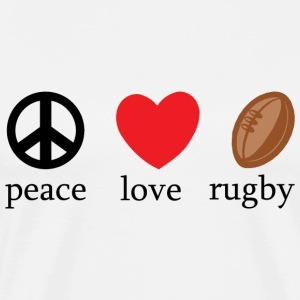 Peace Love Rugby T-Shirt - Men's Premium T-Shirt