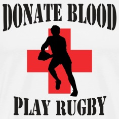 Donate Blood Play Rugby T-Shirt