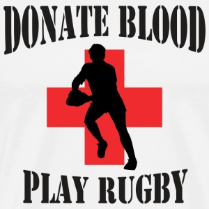 Donate Blood Play Rugby T-Shirt - Men's Premium T-Shirt