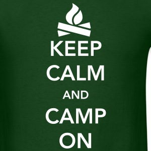 Keep Calm and Camp On T-Shirts - Men's T-Shirt