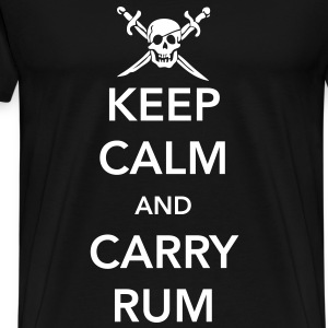 Keep Calm and Carry Rum T-Shirts - Men's Premium T-Shirt