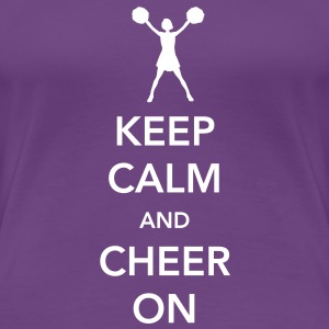 Keep Calm and Cheer On Women's T-Shirts - Women's Premium T-Shirt