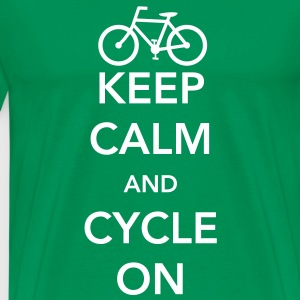 Keep Calm and Cycle On T-Shirts - Men's Premium T-Shirt