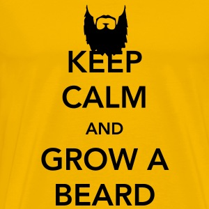 Keep Calm and Grow a Beard T-Shirts - Men's Premium T-Shirt