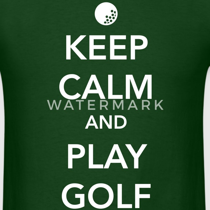 Keep Calm and Play Golf T-Shirts - Men's T-Shirt