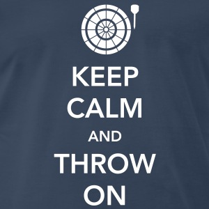Keep Calm and Throw Darts T-Shirts - Men's Premium T-Shirt