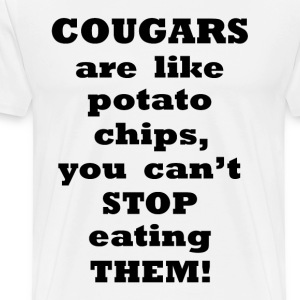 Cougars are like Potato Chips 2    BLA228 - Men's Premium T-Shirt