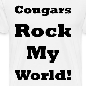 Cougars Rock My World    BLA202 - Men's Premium T-Shirt