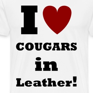 Cougars in Leather    BLA223 - Men's Premium T-Shirt