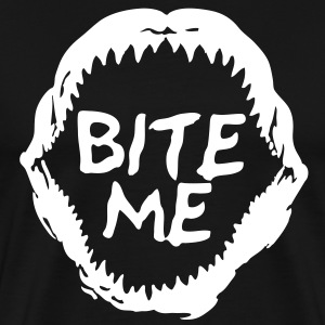 Bite Me Scuba Diving Shark Attack - Men's Premium T-Shirt