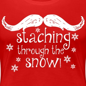 Stashing through the Snow! Women's T-Shirts - Women's Premium T-Shirt