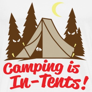 Camping Is In-Tents - Men's Premium T-Shirt