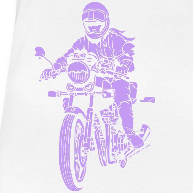 Motorcycle Rider on Purple