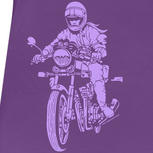 Motorcycle Rider on Purple