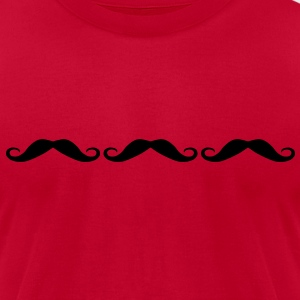 Three moustache T-Shirts - Men's T-Shirt by American Apparel
