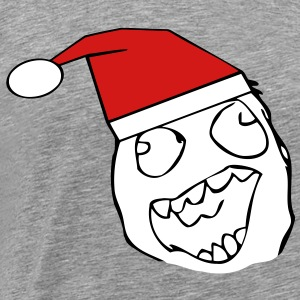 Happy Derp Santa - xmas internet meme - Men's Premium T-Shirt