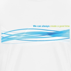 T-shrit with waves like waves of a calm sea - Men's Premium T-Shirt