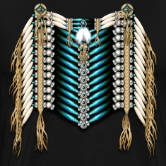 Native American Breastplate - Ivory and Blue