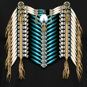 Native American Breastplate - Ivory and Blue - Men's Premium T-Shirt