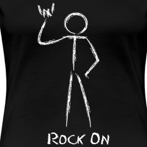 rock on stickman  - Women's Premium T-Shirt