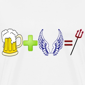 beer+angel=devil - Men's Premium T-Shirt