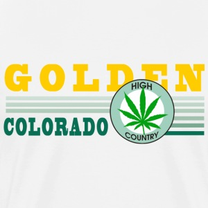 Marijuana Golden Colorado T-Shirt - Men's Premium T-Shirt