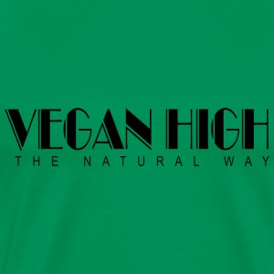 Vegan High The Natural Way T-Shirt - Men's Premium T-Shirt