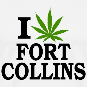 I Love Marijuana Fort Collins Colorado T-Shirt - Men's Premium T-Shirt