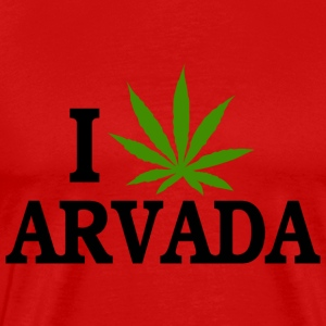 I Love Marijuana Arvada Colorado T-Shirt - Men's Premium T-Shirt